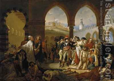General Bonaparte Visiting the Plague Stricken at Jaffa by Auguste Hyacinthe Debay - Reproduction Oil Painting
