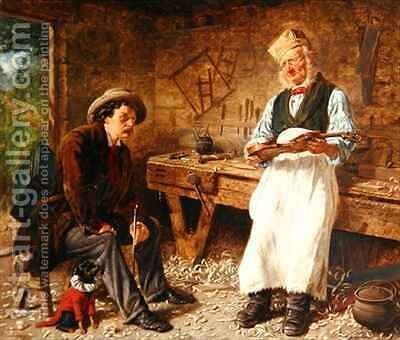 The Violin Maker by Edward Deanes - Reproduction Oil Painting