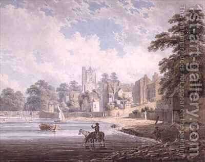 The River Thames at Putney by Edward Dayes - Reproduction Oil Painting