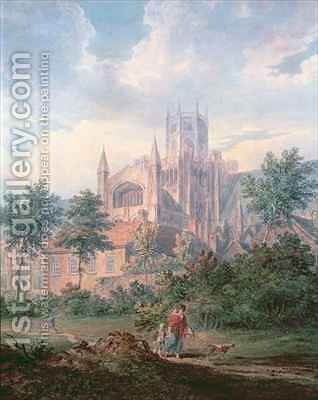 Ely Cathedral from the South East by Edward Dayes - Reproduction Oil Painting