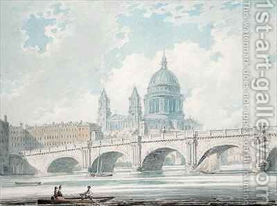 St Pauls Cathedral by Edward Dayes - Reproduction Oil Painting