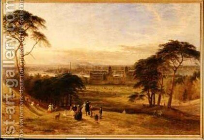 London from Greenwich Hill by Henry Thomas Dawson - Reproduction Oil Painting