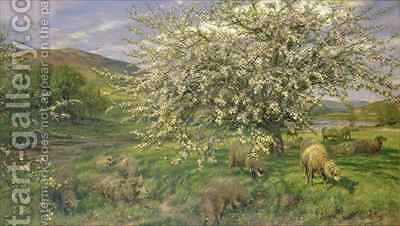 An Orchard in Wales by Henry William Banks Davis - Reproduction Oil Painting