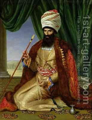 Portrait of Asker Khan Ambassador of Persia in Paris in 1808 by Cesarine (nee Mirvault) Davin - Reproduction Oil Painting