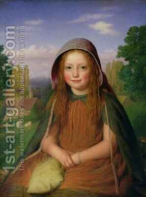 A Girl by E.T. Davies - Reproduction Oil Painting