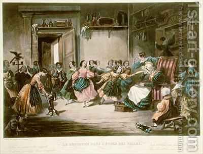 Scene of Disorder in a Girls School by (after) David, Jules - Reproduction Oil Painting