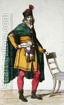 Civilian Dress of a French Citizen by (after) David, Jacques Louis - Reproduction Oil Painting