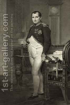 Napoleon I in his study by (after) David, Jacques Louis - Reproduction Oil Painting