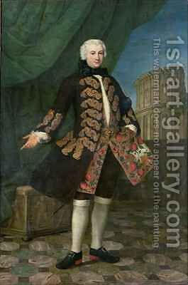 Portrait of William Perry with the Colosseum beyond by Antonio David - Reproduction Oil Painting