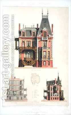 Design for a brick villa in Trouville by Daumont - Reproduction Oil Painting