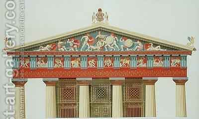 Facade of the Temple of Jupiter at Aegina by Daumont - Reproduction Oil Painting