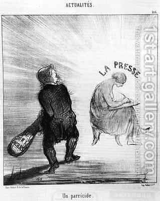 A Parricide by (after) Daumier, Honore - Reproduction Oil Painting