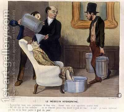 The Hydropathic Doctor caricature from La Caricature by (after) Daumier, Honore - Reproduction Oil Painting