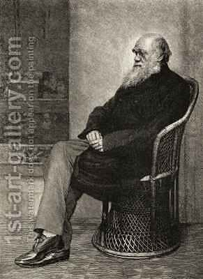 Charles Darwin by (after) Darwin, Captain L. - Reproduction Oil Painting