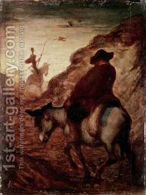 Sancho and Don Quixote by Honoré Daumier - Reproduction Oil Painting