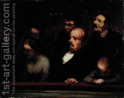 The Loge by Honoré Daumier - Reproduction Oil Painting