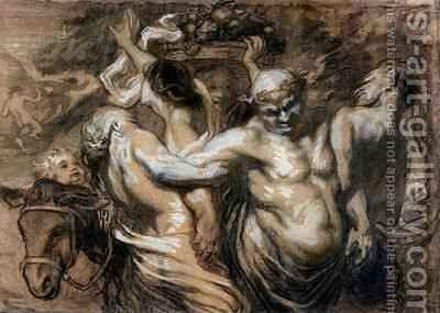 The Drunken Silenus by Honoré Daumier - Reproduction Oil Painting