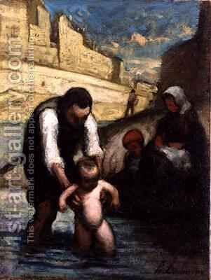 The First Swim by Honoré Daumier - Reproduction Oil Painting
