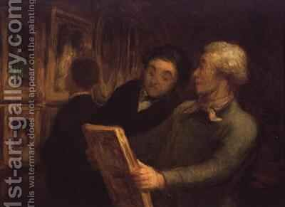 The Amateur Painter by Honoré Daumier - Reproduction Oil Painting