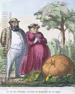 The King of Pumpkins receiving the homage of his subjects by Honoré Daumier - Reproduction Oil Painting