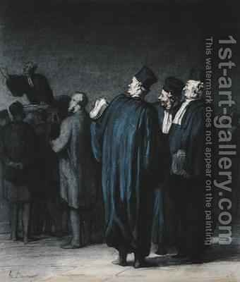 The Lawyers 2 by Honoré Daumier - Reproduction Oil Painting