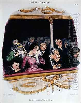 The Fifth Act at the Gaiety Theatre by Honoré Daumier - Reproduction Oil Painting