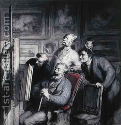 The Amateurs by Honoré Daumier - Reproduction Oil Painting