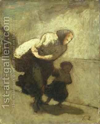 The Heavy Burden by Honoré Daumier - Reproduction Oil Painting