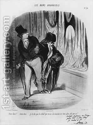 Series Les Bons Bourgeois Come along I am telling you the scarf you have at home is much more beautiful by Honoré Daumier - Reproduction Oil Painting