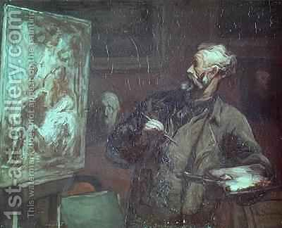 The Artist in his Studio 2 by Honoré Daumier - Reproduction Oil Painting