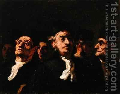 Lawyers Meeting by Honoré Daumier - Reproduction Oil Painting