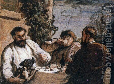 Lunch in the Country by Honoré Daumier - Reproduction Oil Painting