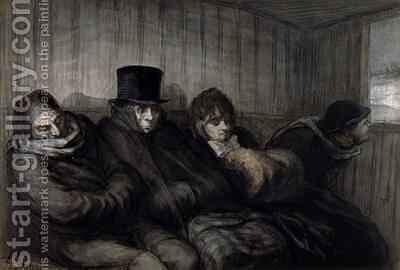 The Second Class Carriage by Honoré Daumier - Reproduction Oil Painting