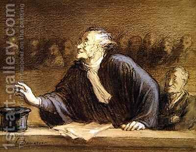 The Lawyer by Honoré Daumier - Reproduction Oil Painting
