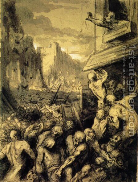 The Destruction of Sodom by Honoré Daumier - Reproduction Oil Painting