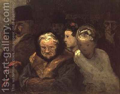 Leaving the Theatre by Honoré Daumier - Reproduction Oil Painting