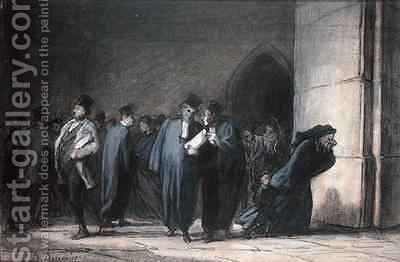 At the Palace of Justice by Honoré Daumier - Reproduction Oil Painting
