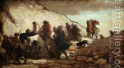 The Fugitives or The Emigrants by Honoré Daumier - Reproduction Oil Painting
