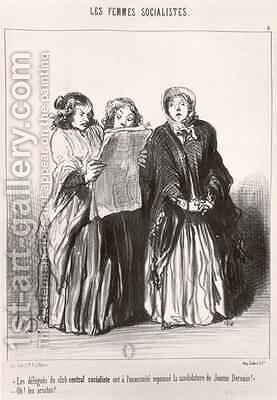 The Socialist Women 2 by Honoré Daumier - Reproduction Oil Painting