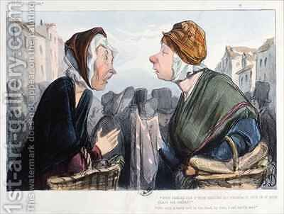 A nasty cold in the head by Honoré Daumier - Reproduction Oil Painting