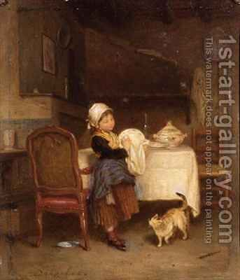 The Little Housekeeper by Andre Henri Dargelas - Reproduction Oil Painting