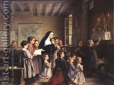 Morning Prayers by Andre Henri Dargelas - Reproduction Oil Painting