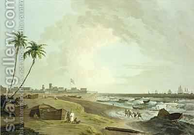 South East View of Fort St George Madras by (after) Daniell, Thomas - Reproduction Oil Painting