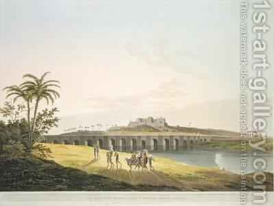 The Armenian Bridge near St Thomass Mount Madras by (after) Daniell, Thomas - Reproduction Oil Painting