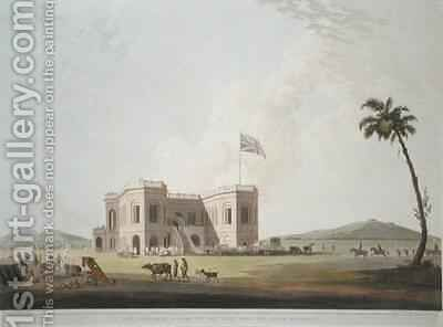 The Assembly Rooms on the Race Ground near Madras by (after) Daniell, Thomas - Reproduction Oil Painting
