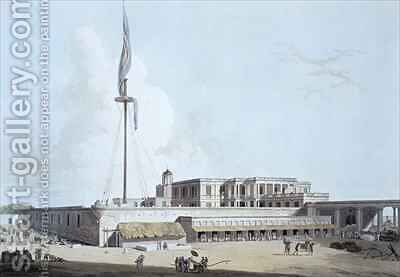 The Government House Fort St George by (after) Daniell, Thomas - Reproduction Oil Painting