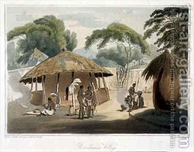 Booshuana Village by (after) Daniell, Samuel - Reproduction Oil Painting