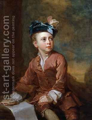 Portrait of a Young Boy by Bartholomew Dandridge - Reproduction Oil Painting