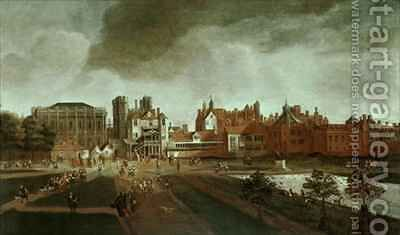 Whitehall Palace and St Jamess Park by Hendrick Danckerts - Reproduction Oil Painting