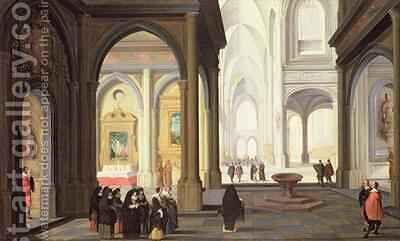 Church Interior by Jan van Dalen - Reproduction Oil Painting